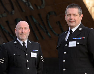 Sgt Gareth Davies and PC John Harrison