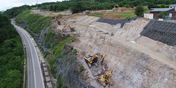 The equivalent of more than 400 Olympic swimming pools worth of material has been excavated