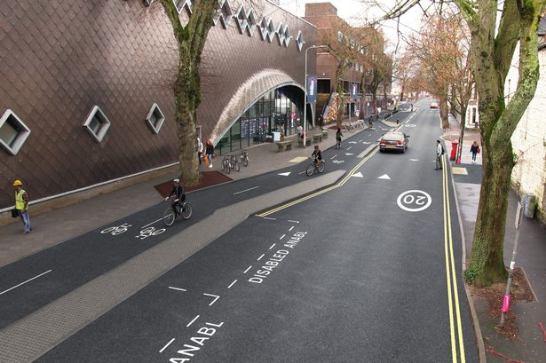 Figure 15: Proposals for cycle lane Cardiff (Copyright: Cardiff Council)