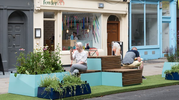 Figure 19: Parklets (Copyright: Paul Carstairs / Arup)