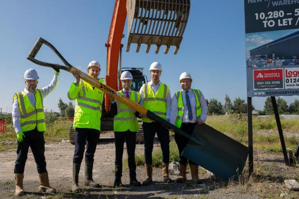 Ken Skates marks start of work on major Deeside industrial scheme
