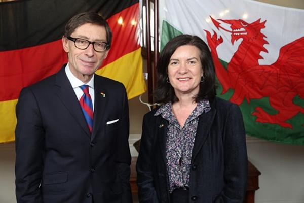 Wales looks forward to future relationship with its strongest trading partner as German Ambassador to UK visits key sites