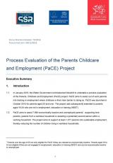 Evaluation of the Parents, Childcare and Employment (PaCE) Project
